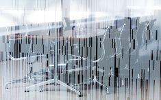 Office Graphics, Window Graphics, Environmental Graphics, Environmental Design, Office Interior Design, Office Interiors, Ray Charles, Charles Eames, Glass Film Design
