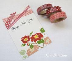 Wash tape New Year Card Idea