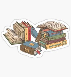 """""""Books"""" Stickers by deepfuze Stickers Cool, Tumblr Stickers, Anime Stickers, Printable Stickers, Laptop Stickers, Journal Stickers, Planner Stickers, Book Aesthetic, Aesthetic Stickers"""