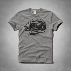 Classic and supersoft, vintage-inspired camera graphic at front, self fabric interior neck taping, Muscle Fit, Imported<br><br>60% cotton / 40% polyester
