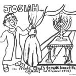 Bible coloring pages king josiah sunday school for King josiah coloring page