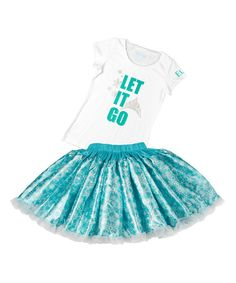 Look at this Frozen Elsa 'Let It Go' Tee & Tutu - Girls on #zulily today!