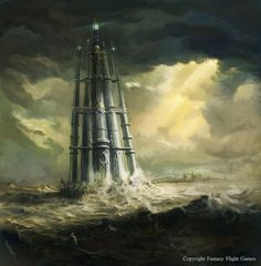 Image result for flying lighthouse fantasy art