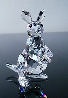 6708de4d872 Amazon.com: Swarovski Mother Kangaroo with Baby Joey Rare Encounters Series  Retired Crystal Figurine with Box and Certificate Mint Condition: Home &  Kitchen