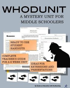 Jump into mystery genre with this student-centered unit.  Perfect for starting for Fall.