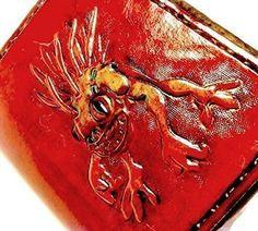 Handmade Leather World of Warcraft Murloc Horde Wallet