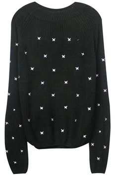 ROMWE | Butterfly Embroidered Black Jumper, The Latest Street Fashion