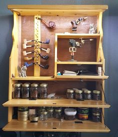 Items similar to Handmade Lighted Tobacco Pipe Rack Cabinet on Etsy