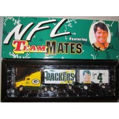 Green Bay Packers Brett Favre NFL Diecast 1998 Fleer Tractor Trailer Football Teammates Series 1 Truck White Rose Collectible Car by NFL $78.29