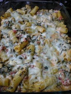 Chicken and Spinach Pasta Bake (going to try with ww pasta & lowfat crm ch though)