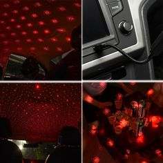 Buy Wonderlife Star Night Light Mini Laser Car Ambient Decoration Light USB Starry Atmosphere Lamp Adjustable LED Auto Lights - Minimum order quantity for this item is 2 at www.smilys-stores.com! Free shipping. 45 days money back guarantee. Star Night Light, Stars At Night, Car Lights, Ceiling Lights, Cheap Storage, Bag Storage, Usb, Car Party, Wall