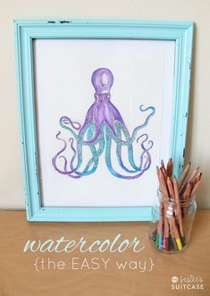 DIY Watercolor Art (The Easy Way) Make your own watercolors even with no experience painting! -- Tatertots and Jello #DIY #art