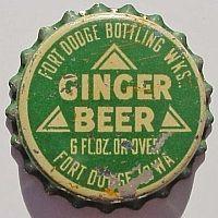 Fort Dodge Ginger Beer, bottle cap | Fort Dodge Bottling Works, Fort Dodge, Iowa USA