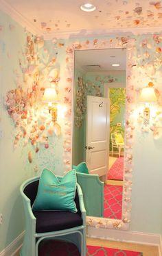 人魚姫の壁&果実の天井*かわいい部屋DIYアイディアfrom Florida | DIY Recipe
