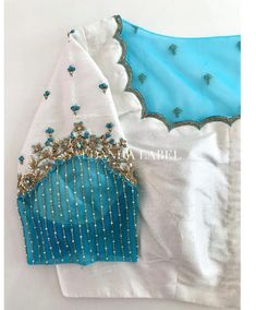 Netted Blouse Designs, Cutwork Blouse Designs, Fancy Blouse Designs, Blouse Neck Designs, Hand Embroidery Designs, Embroidery Motifs, Sleeve Designs, Hand Work Blouse Design, Stylish Blouse Design