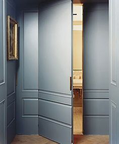 Frameless door  Francisco Costa's Midtown NYC Apartment designed by Mark Cunningham