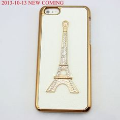 bling 3D diamond clear crown shoe girl eiffel hard back Case cover for Iphone 5C (eiffel):Amazon:Cell Phones & Accessories