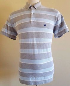BROOKS Brothers POLO Shirt STRIPED XL Slim FIT Mens SIZE Performance COTTON Sz** #BrooksBrothers #PoloRugby