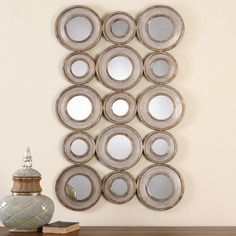 Uttermost Vobbia Metal Circles Mirror - 30W x 49H in. - Mirrors at Hayneedle