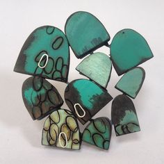 'Stacked up Creels' brooch 2014 by Kelly Munro
