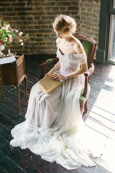 Satin Wedding Dress | Атласное свадебное платье «Дымчатое» — Купить, заказать, платье, свадебное платье, свадьба, атлас, шелк, ручная работа