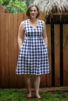 Blue Gingham Washi Dress - Sew Delicious