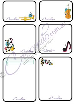 Cute Music Themed Note Paper. For Crescendo Members.
