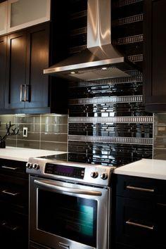 Gut 18 Black Subway Tiles In Modern Kitchen Design Ideas