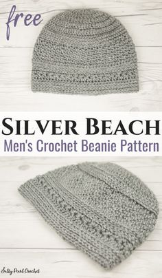 This men's crochet beanie pattern free makes the perfect crocheted gift idea for guys. He's sure to love the beautiful crochet textures as much as you enjoy working the easy crochet beanie pattern! ideas for men guys Mens Crochet Beanie Pattern Free Beanie Pattern Free, Crochet Beanie Pattern, Crochet Patterns, Free Pattern, Doll Patterns, Crochet Ideas, Crochet Projects, Pattern Ideas, Mens Hat Knitting Pattern
