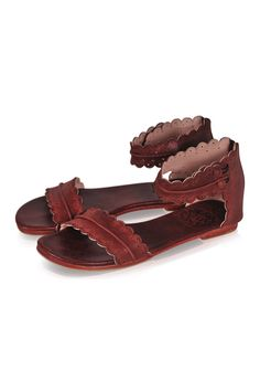 92031e6feaa Handmade leather Midsummer sandals. Featuring hand cut detailing and  scallop shaped edges these sandals are