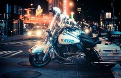 New York city police bikes.