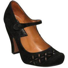 Bertie Adelia Vintage Mary Jane Style Court Shoes, Black