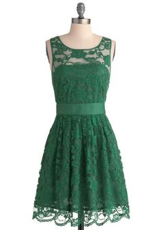 When the Night Comes Dress in Emerald, #ModCloth