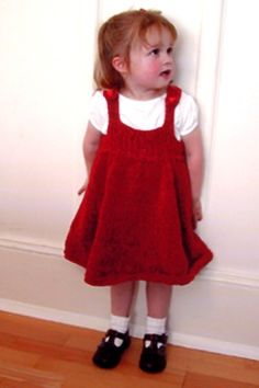 Cotton Chenille Girl's Jumper - free knitting pattern for little girl's jumper - Crystal Palace Yarns