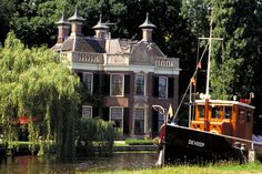 A nice area to visit in the Netherlands is to go by boat along the Vecht.