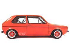 Red VW Golf Mk1