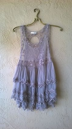 Image of Free People Gypsy lace tiered bohemian festival top
