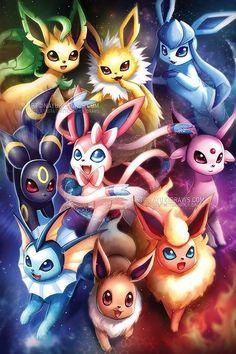 Pokemon – Eeveelutions Poster Print – Spie… - Anime and Manga World 2020 Pokemon Poster, Pokemon Go, Pokemon Film, Pikachu Art, Cute Pikachu, Pokemon Memes, Pokemon Fusion, Pokemon Cards, Pokemon Pikachu Evolution