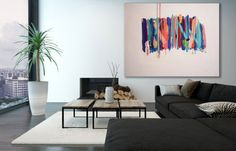 XL colores pintura abstracta / textura arte pintura / moderno