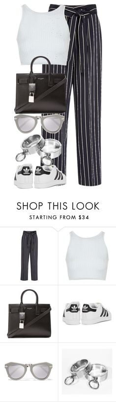 """Untitled #2706"" by elenaday on Polyvore featuring TradeMark, Topshop, Yves Saint Laurent, adidas Originals and Karen Walker"