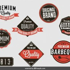 Vintage badges collection of premium quality