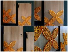 Nine Red: New String Art Tablets -- would be great on the wall behind the firepole