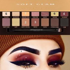 Anastasia Beverly Hills soft glam eyeshadow palette #ad #makeup #beauty #abh