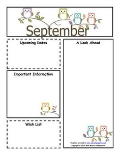 Pin by kate nelson on newsletter templates pinterest september monthly newsletter template customizable spiritdancerdesigns Images