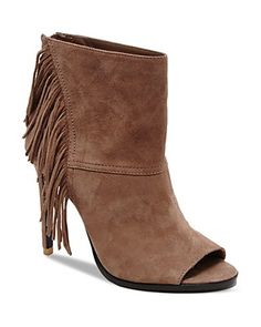 Dolce Vita Hanover Fringe Open Toe High Heel Booties | Bloomingdale's