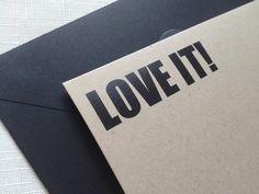 Bridal Shower Thank You Card, LOVE IT, Bachelorette Party, You Choose Colors - Set of 10