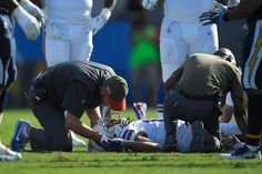 Benjamin's right knee bent awkwardly and he stayed on the field in pain. He was ruled out for the game. Kelvin Benjamin, Knee Injury, Buffalo Bills, Awkward, Game, Fictional Characters, Venison, Games, Fantasy Characters