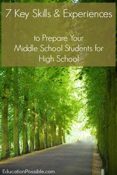 Is your teen ready to move on to high school? Here are 7 key skills and experiences all middle schoolers should have before they leave junior high and head off to high school. Middle School Counseling, School Counselor, Study Skills, Life Skills, High School Years, Homeschool High School, School Resources, Homeschooling Resources, Home Schooling