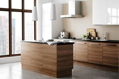 Ikea Kitchen cabinets - walnut stainless steel (think more dramatic extractor fa. - Ikea DIY - The best IKEA hacks all in one place Ikea Small Kitchen, Ikea Kitchen Design, New Kitchen Designs, Kitchen Interior, Kitchen White, Kitchen Ideas, Ikea Design, Küchen Design, Design Ideas