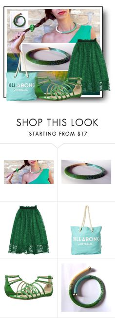 """Summer in green!"" by colchico ❤ liked on Polyvore featuring Billabong and Nine West"